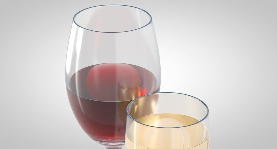 Wine Glasses royalty-free 3d model - Preview no. 3
