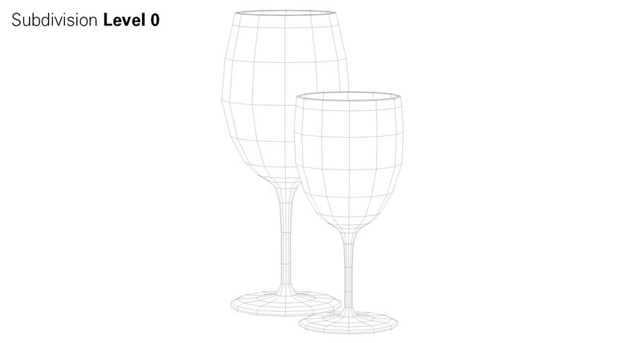 Wine Glasses royalty-free 3d model - Preview no. 8