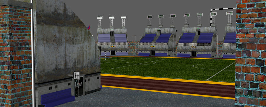 Stadion piłkarski V2 royalty-free 3d model - Preview no. 13