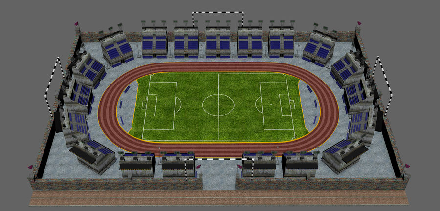 Stadion piłkarski V2 royalty-free 3d model - Preview no. 9