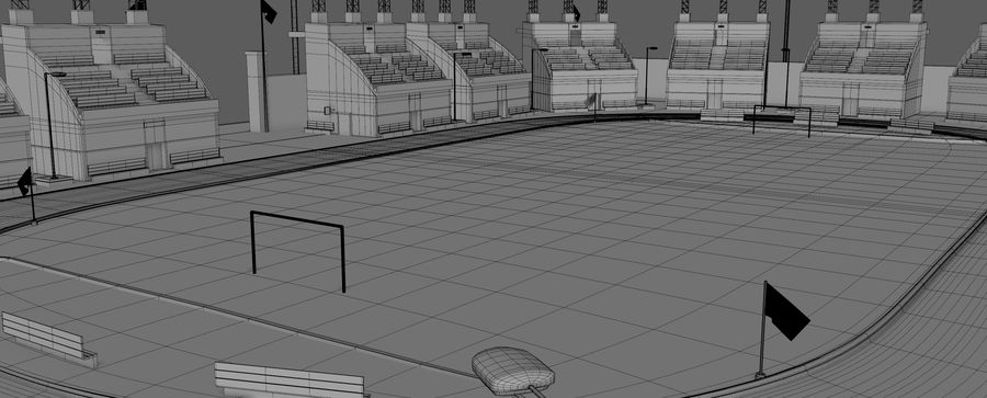 Stadion piłkarski V2 royalty-free 3d model - Preview no. 12