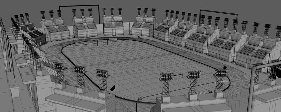 Stadion piłkarski V2 royalty-free 3d model - Preview no. 8