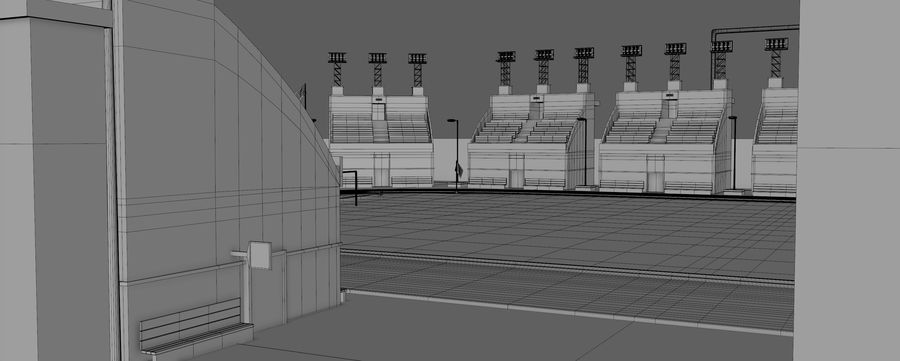 Stadion piłkarski V2 royalty-free 3d model - Preview no. 14