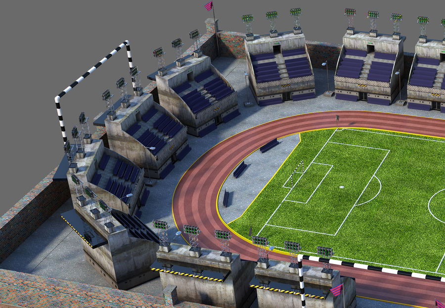 Stadion piłkarski V2 royalty-free 3d model - Preview no. 4