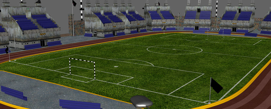 Stadion piłkarski V2 royalty-free 3d model - Preview no. 11