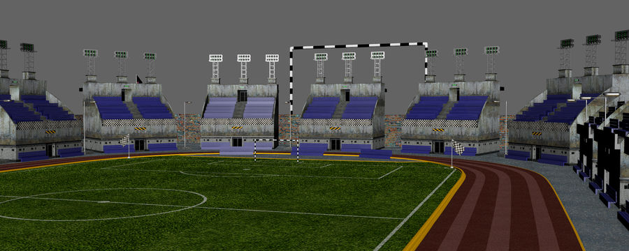 Stadion piłkarski V2 royalty-free 3d model - Preview no. 15