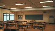 Anime Classroom 3d model