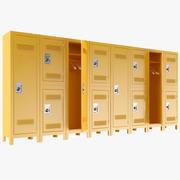 Gelbe Schließfächer 3d model