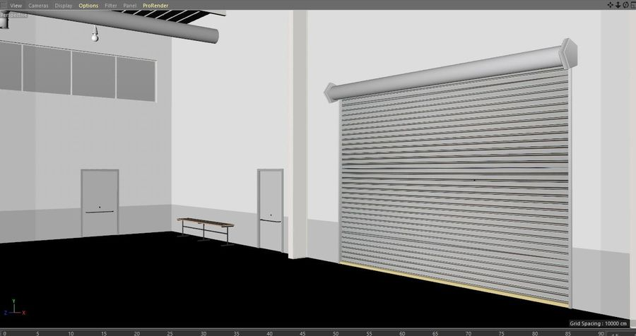 Magazijn Modern interieur royalty-free 3d model - Preview no. 26