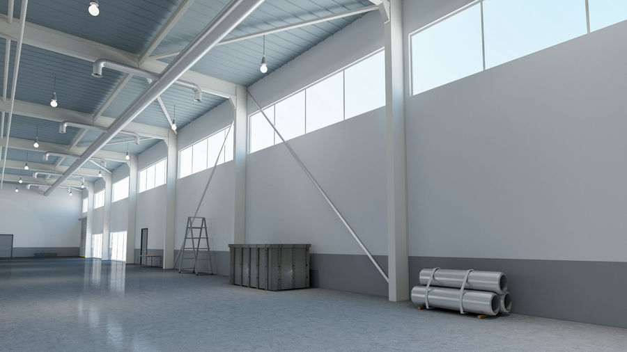 Magazijn Modern interieur royalty-free 3d model - Preview no. 4