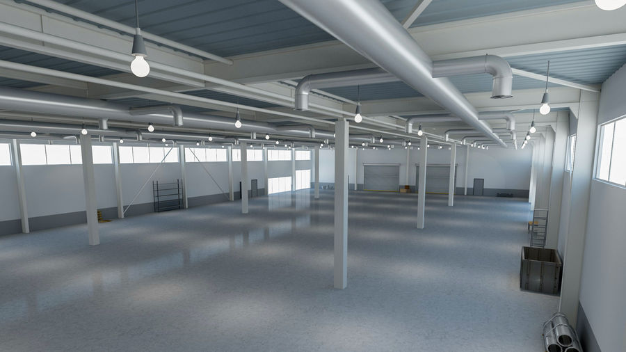 Magazijn Modern interieur royalty-free 3d model - Preview no. 3