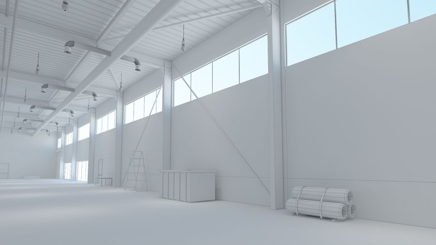 Magazijn Modern interieur royalty-free 3d model - Preview no. 14