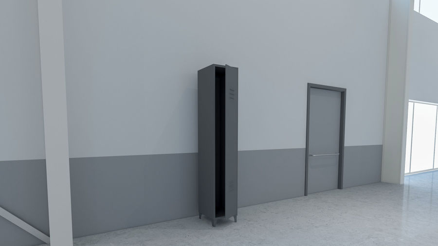 Magazijn Modern interieur royalty-free 3d model - Preview no. 8