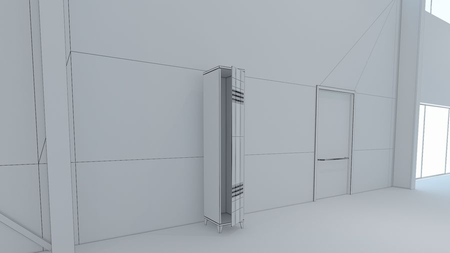 Magazijn Modern interieur royalty-free 3d model - Preview no. 22