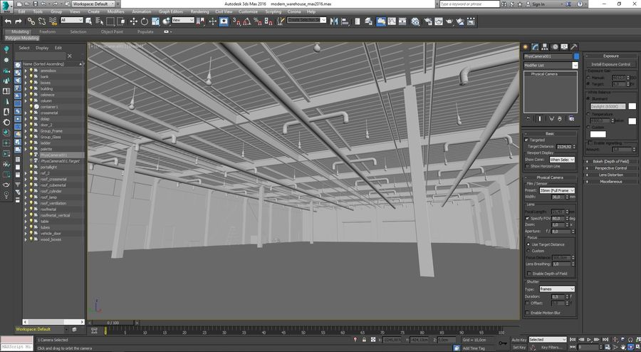 Magazijn Modern interieur royalty-free 3d model - Preview no. 30