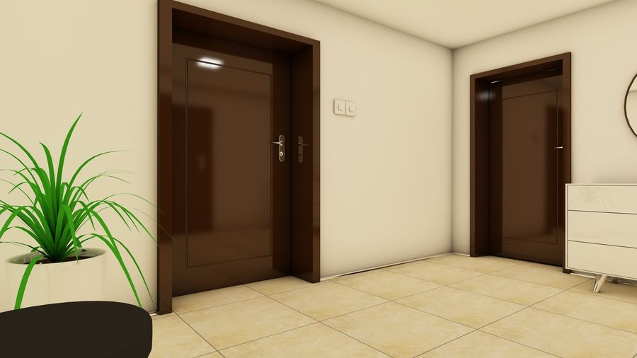 Modern appartement interieur royalty-free 3d model - Preview no. 18