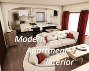 Modern appartement interieur 3d model