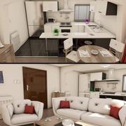 Nowoczesne wnętrze mieszkania 3d model