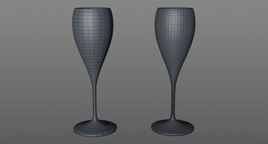 Wine Glasses royalty-free 3d model - Preview no. 15