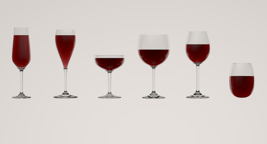 Wine Glasses royalty-free 3d model - Preview no. 1