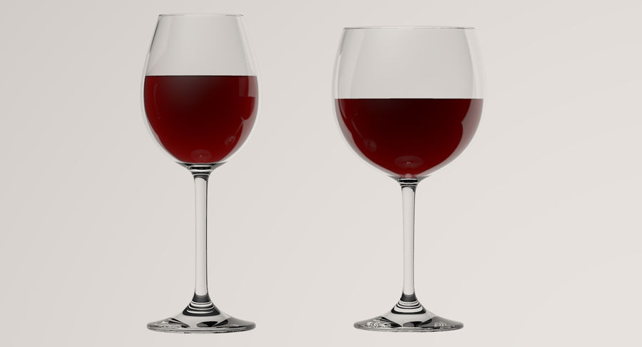 Wine Glasses royalty-free 3d model - Preview no. 5