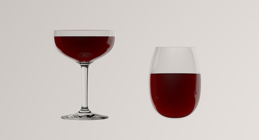 Wine Glasses royalty-free 3d model - Preview no. 6