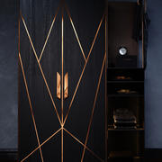 Cabinet with copper 3d model