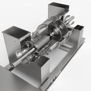 Turbina a gás 3d model