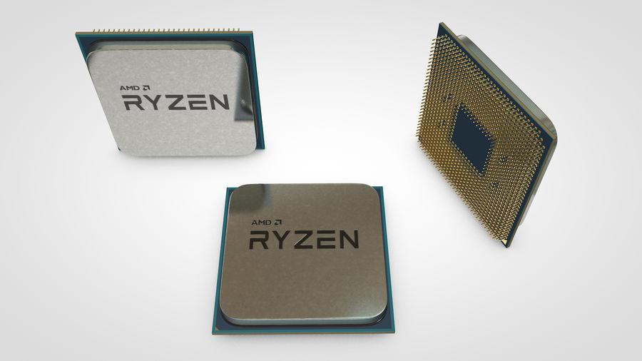 AMD Ryzen CPU royalty-free 3d model - Preview no. 1
