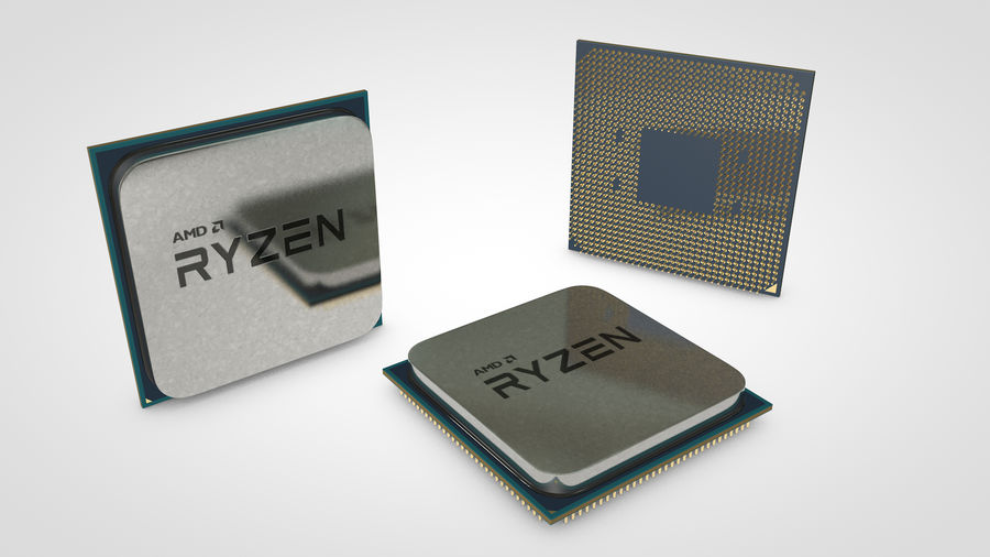 AMD Ryzen CPU royalty-free 3d model - Preview no. 5