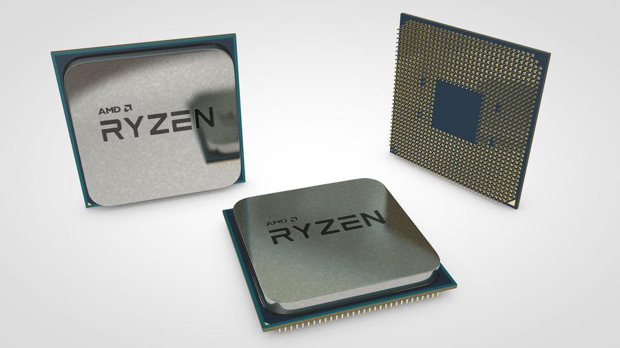 AMD Ryzen CPU royalty-free 3d model - Preview no. 8