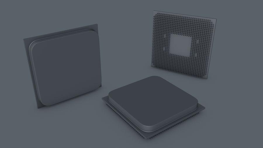 AMD Ryzen CPU royalty-free 3d model - Preview no. 6