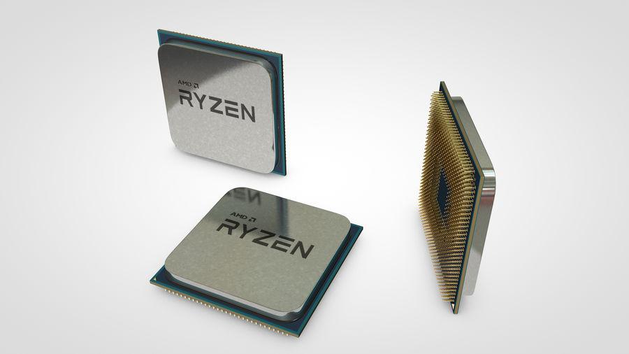 AMD Ryzen CPU royalty-free 3d model - Preview no. 2