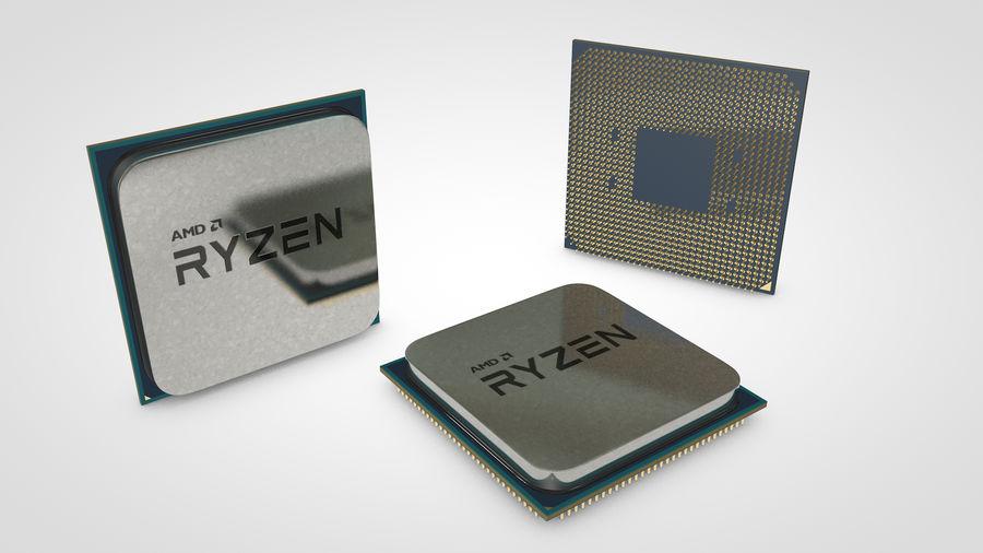 AMD Ryzen CPU royalty-free 3d model - Preview no. 5