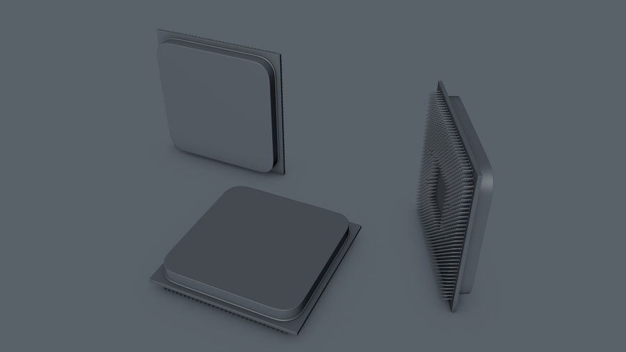 AMD Ryzen CPU royalty-free 3d model - Preview no. 3
