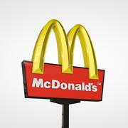 Mc Donalds Sign 3d model