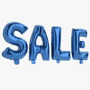 Folie ballon blauwe woorden verkoop 3d model