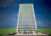 24-storey building 3d model