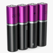 AAA Four Battery 3D Model 3d model