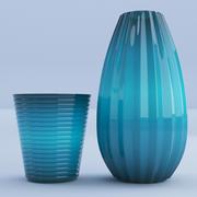 玻璃绿松石花瓶 3d model