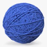 Blue Wool Yarn Ball 3D Model 3d model