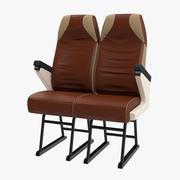 老式巴士乘客座椅 3d model