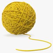 Sfera di filo giallo 3d model