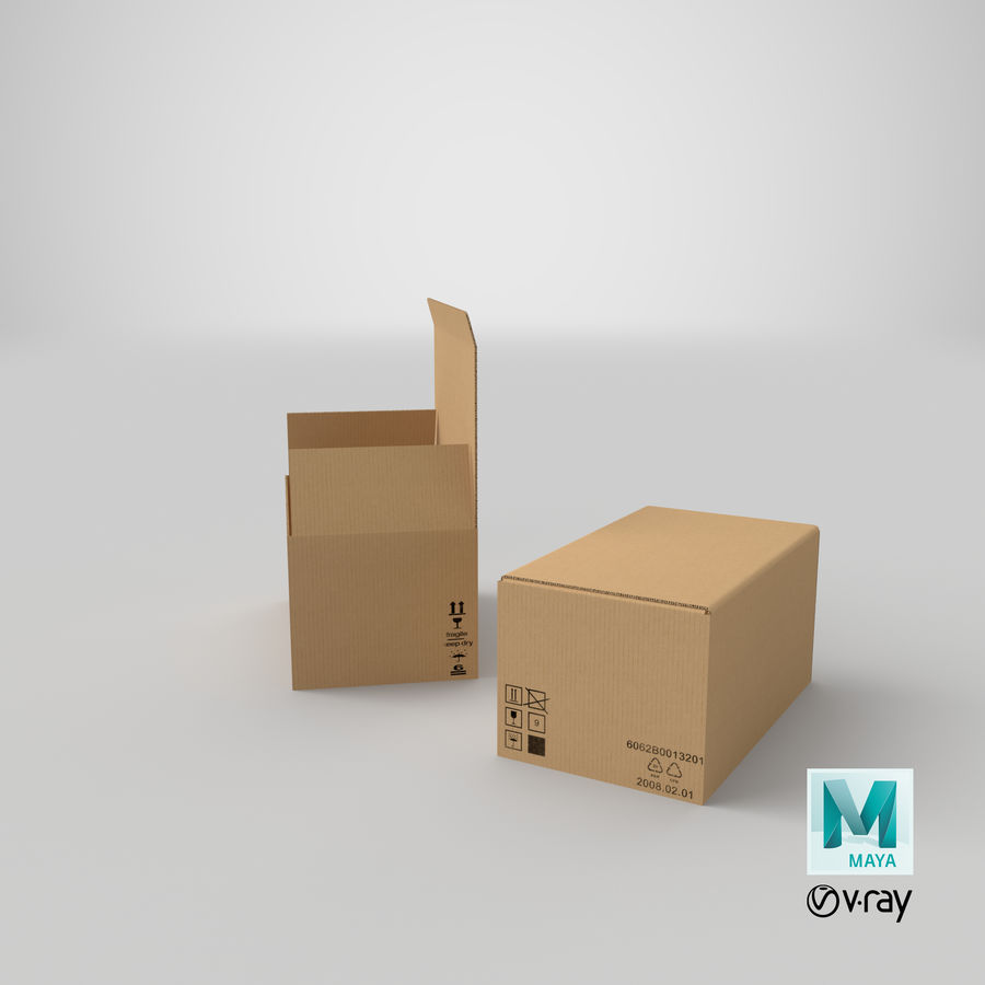 Boîtes en carton 01 royalty-free 3d model - Preview no. 31