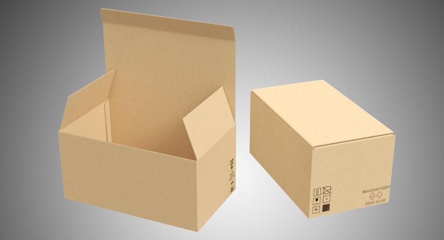 Boîtes en carton 01 royalty-free 3d model - Preview no. 2