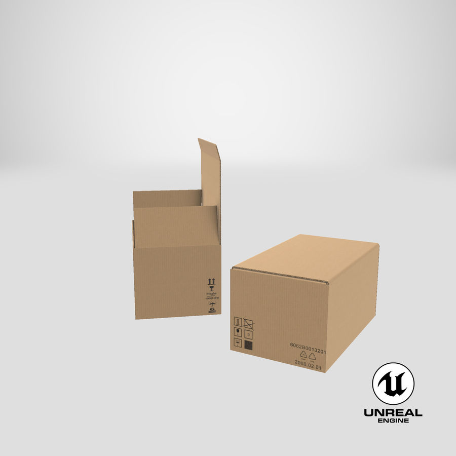 Boîtes en carton 01 royalty-free 3d model - Preview no. 25