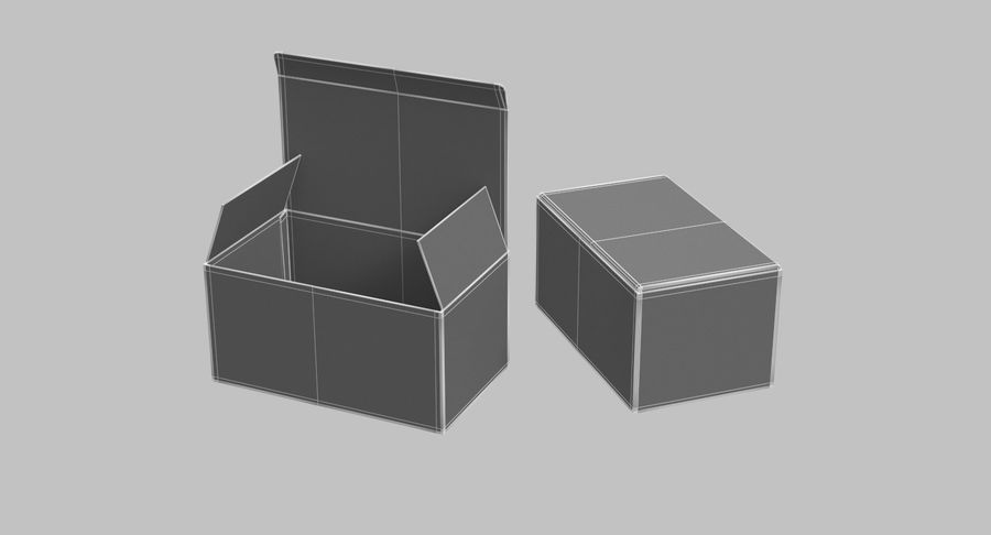 Boîtes en carton 01 royalty-free 3d model - Preview no. 11