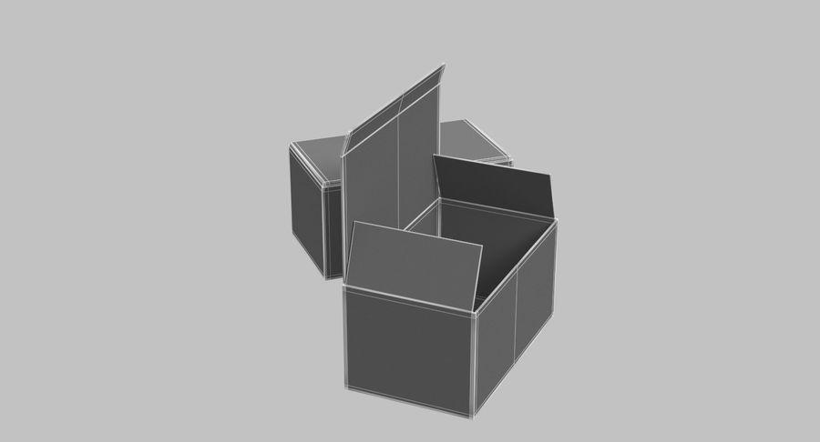 Boîtes en carton 01 royalty-free 3d model - Preview no. 14