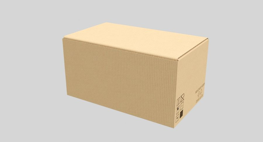 Boîtes en carton 01 royalty-free 3d model - Preview no. 7