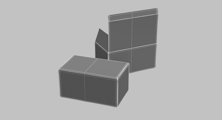 Boîtes en carton 01 royalty-free 3d model - Preview no. 17